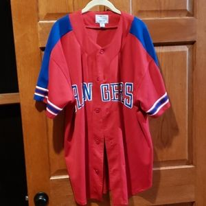 MLB Texas Rangers Authentic Jersey XL Button up